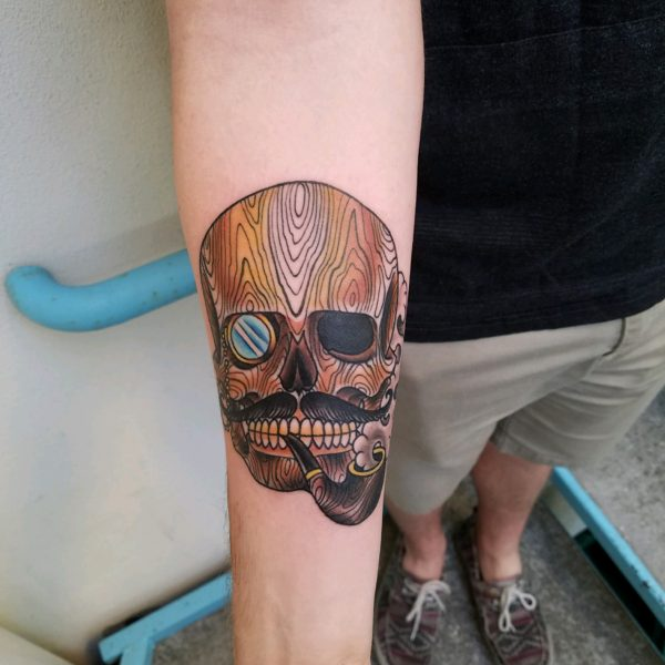 Brandon: Wood Grain Skull