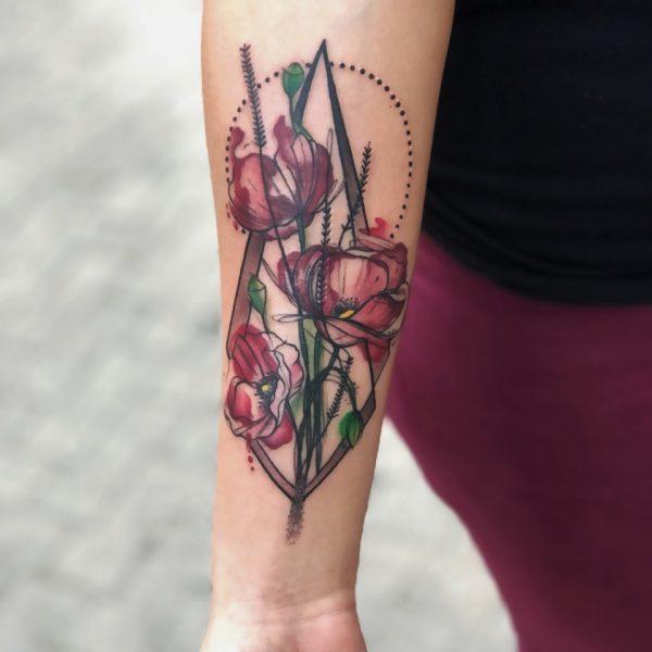 Zakk: Watercolor flowers
