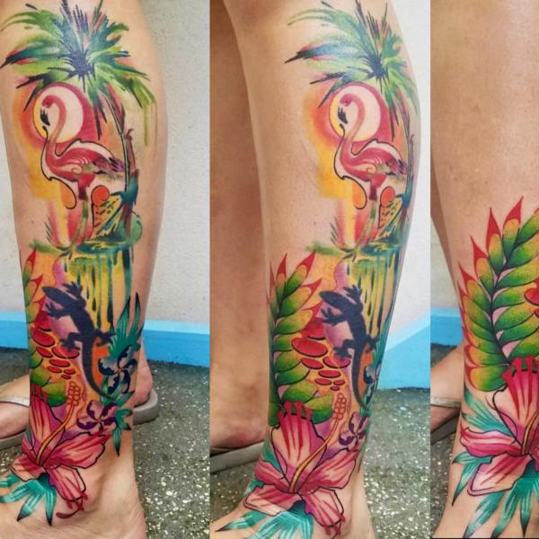 Brandon: Watercolor Flamingo